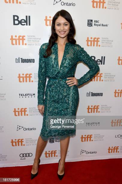 Actress Olga Kurylenko attends the To The Wonder premiere during the 2012 Toronto International Film Festival at the Princess of Wales Theatre on...