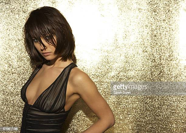 Actress Olga Kurylenko poses for a portrait shoot in London on June 2 2008