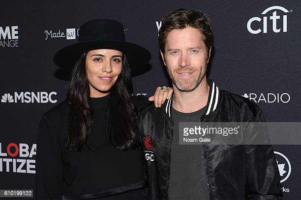Actress Olga Segura and Global Citizen cofounder Ryan Gall attend the 2016 Global Citizen Festival In Central Park To End Extreme Poverty By 2030 at...