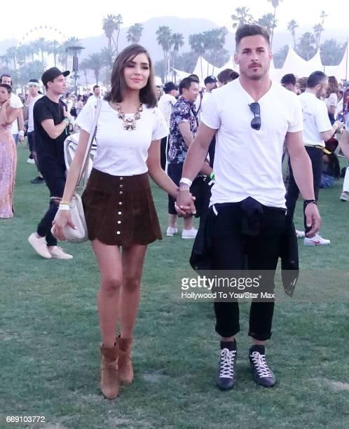 Actress Oliivia Culpo and Danny Amendola are seen at Coachella on April 15 2017 in Indio CA