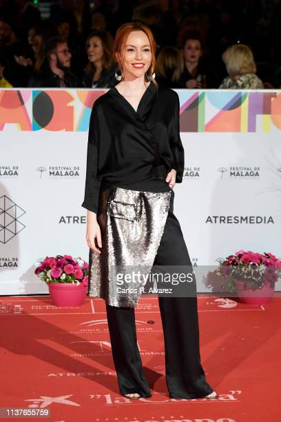 Actress Olimpia Melinte attends the 'Retrospeciva' award ceremony during the 22th Malaga Film Festival on March 22 2019 in Malaga Spain