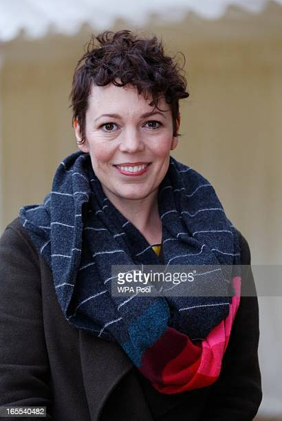 Actress Olivia Colman arrive for a reception for the British Film Industry held by Queen Elizabeth and Prince Philip at Windsor Castle on April 4...