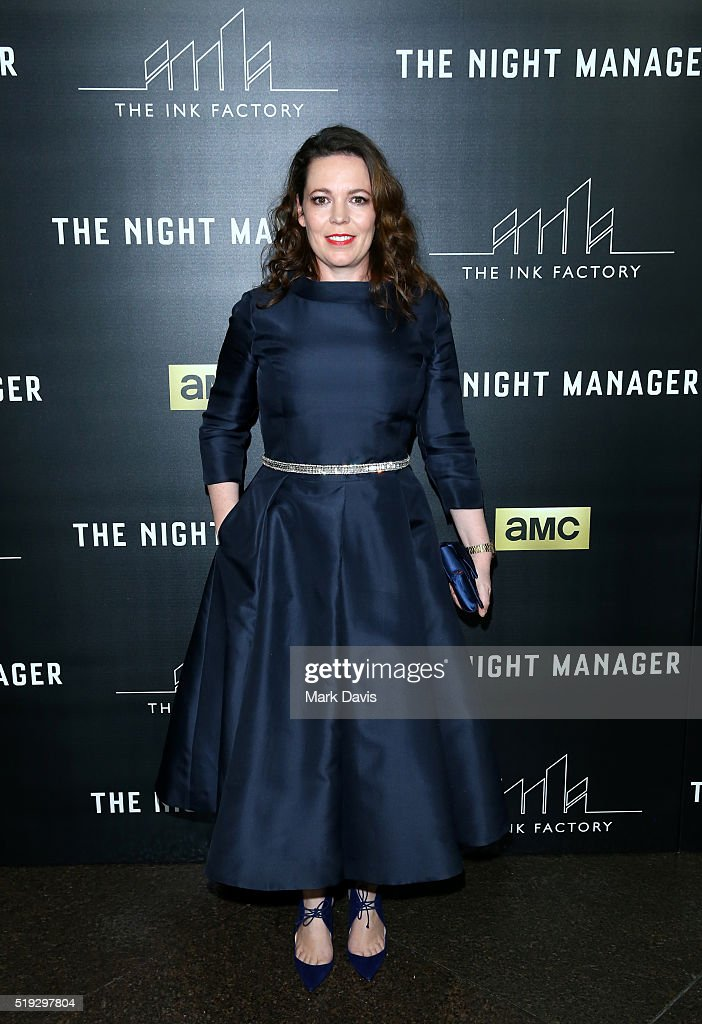 Actress Olivia Colman attends the premiere of AMC's 'The Night Manager' at DGA Theater on April 5, 2016 in Los Angeles, California.