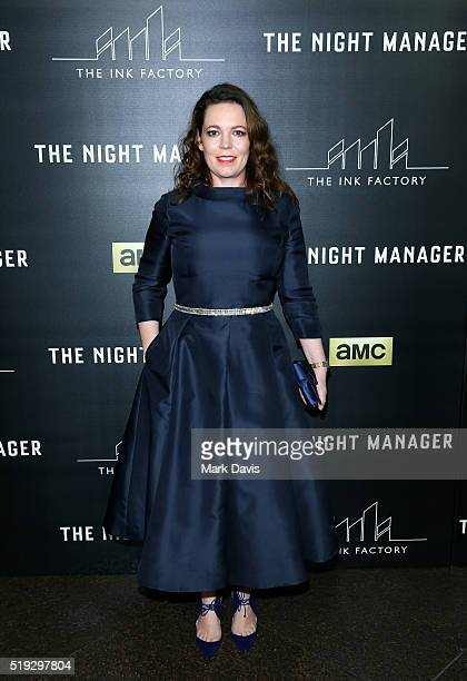 Actress Olivia Colman attends the premiere of AMC's The Night Manager at DGA Theater on April 5 2016 in Los Angeles California