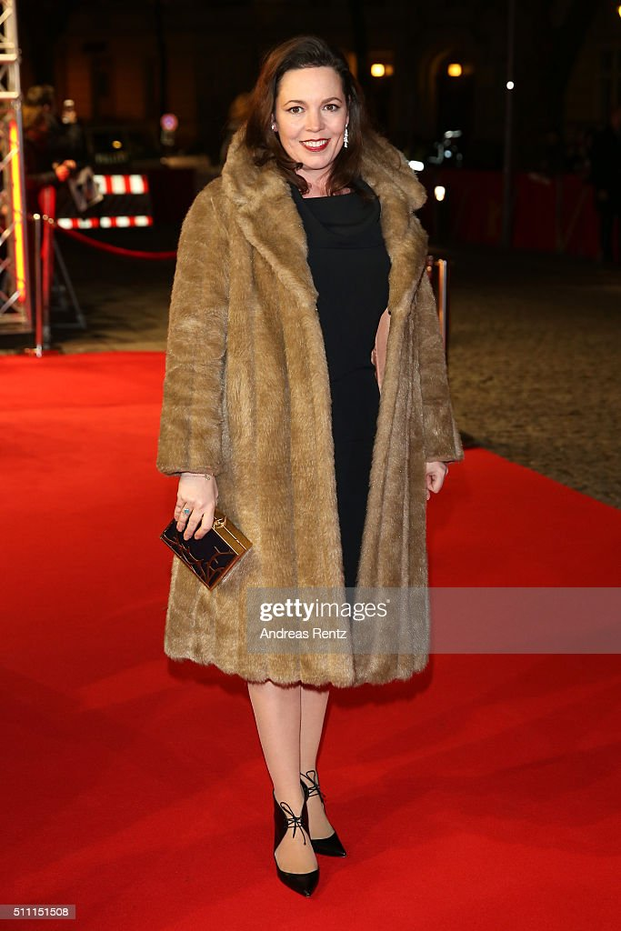 Actress Olivia Colman attends the 'The Night Manager' premiere during the 66th Berlinale International Film Festival Berlin at Haus der Berlinale on February 18, 2016 in Berlin, Germany.