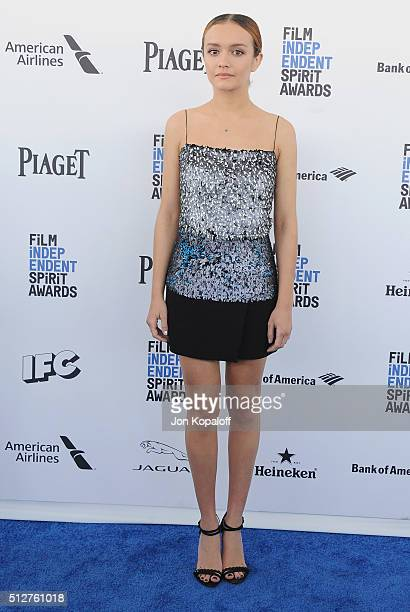 Actress Olivia Cooke arrives at the 2016 Film Independent Spirit Awards on February 27 2016 in Los Angeles California