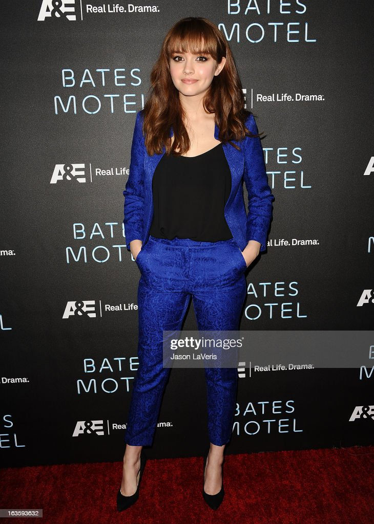 Actress Olivia Cooke attends the premiere of 'Bates Motel' at Soho House on March 12, 2013 in West Hollywood, California.