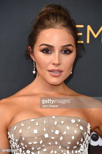 Actress Olivia Culpo arrives at the 68th Annual Primetime Emmy Awards at Microsoft Theater on September 18 2016 in Los Angeles California