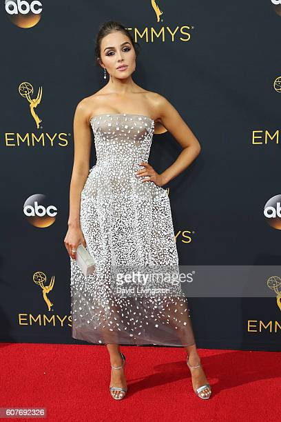 Actress Olivia Culpo arrives at the 68th Annual Primetime Emmy Awards at the Microsoft Theater on September 18 2016 in Los Angeles California