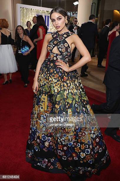 Actress Olivia Culpo at the 74th annual Golden Globe Awards sponsored by FIJI Water at The Beverly Hilton Hotel on January 8 2017 in Beverly Hills...