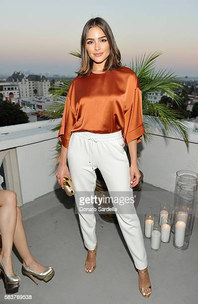 Actress Olivia Culpo attends Elizabeth and James Flagship Store Opening Celebration with InStyle at Chateau Marmont on July 26 2016 in Los Angeles...