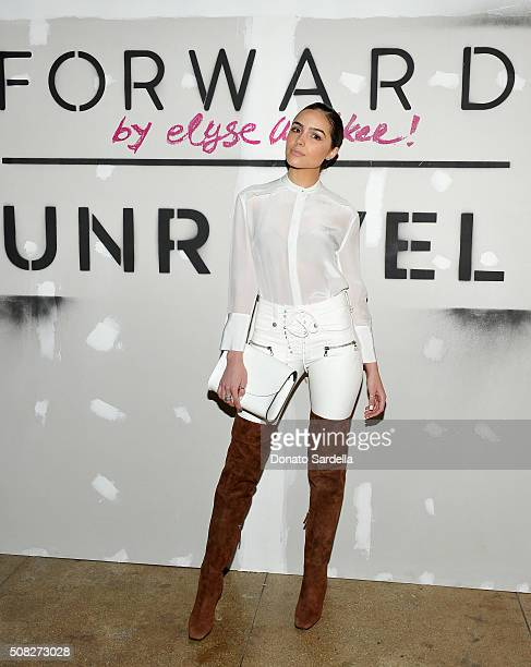 Actress Olivia Culpo attends FORWARD By Elyse Walker Unravel event at HNYPT on February 3 2016 in Los Angeles California