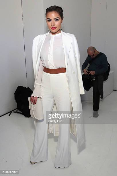 Actress Olivia Culpo attends Rachel Zoe Fall 2016 during New York Fashion Week The Shows at The Space Skylight at Clarkson Sq on February 14 2016 in...