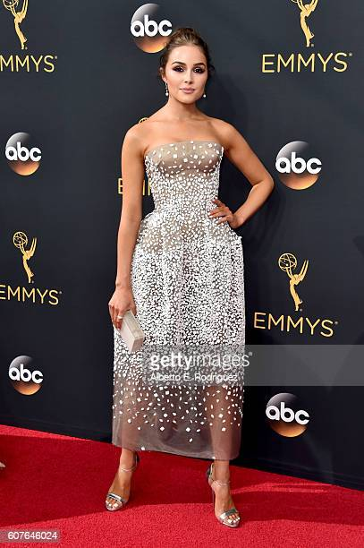 Actress Olivia Culpo attends the 68th Annual Primetime Emmy Awards at Microsoft Theater on September 18 2016 in Los Angeles California