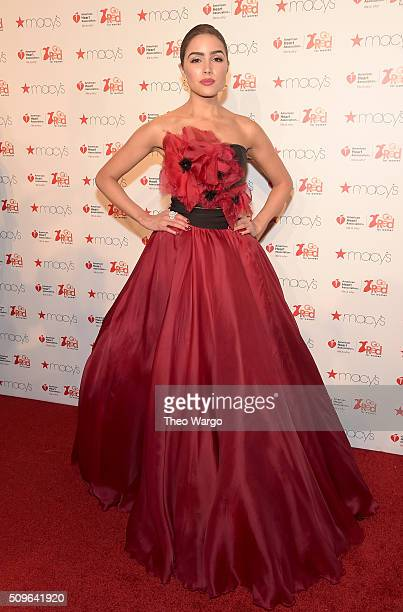 Actress Olivia Culpo attends The American Heart Association's Go Red For Women Red Dress Collection 2016 Presented By Macy's at The Arc Skylight at...