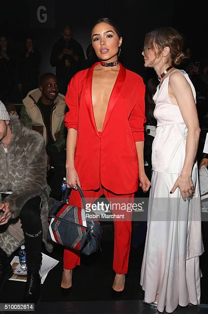 Actress Olivia Culpo attends the Baja East Fall 2016 fashion show during New York Fashion Week The Shows at The Dock Skylight at Moynihan Station on...