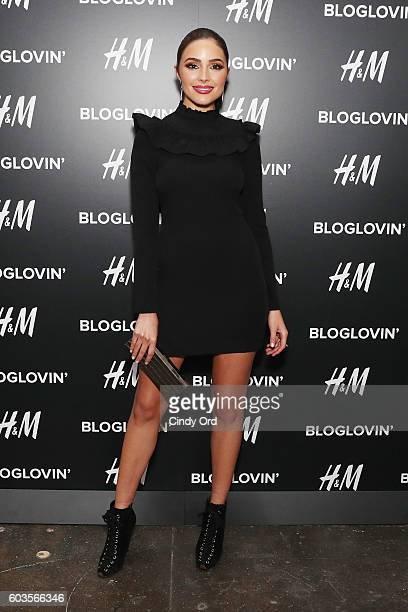 Actress Olivia Culpo attends the Blog Lovin' Awards at Industria Superstudio on September 12 2016 in New York City