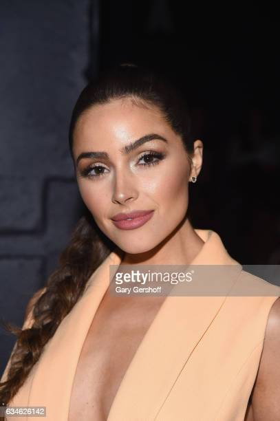 Actress Olivia Culpo attends the Cushnie Et Ochs fashion show during February 2017 New York Fashion Week at Gallery 1 Skylight Clarkson Sq on...