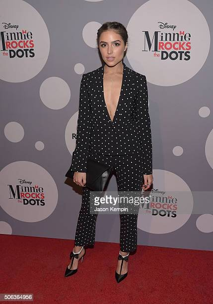 Actress Olivia Culpo attends the Minnie Mouse Rocks The Dots Art and Fashion Exhibit on January 22 2016 in Los Angeles California