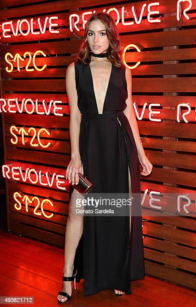Actress Olivia Culpo attends the REVOLVE fashion show benefiting Stand Up To Cancer on October 22 2015 in Los Angeles California