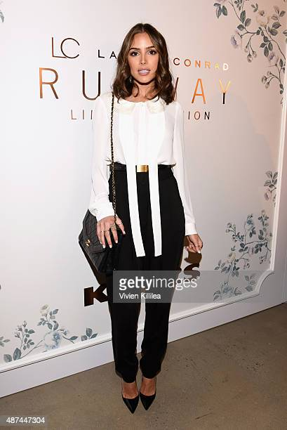 Actress Olivia Culpo poses backstage at the LC Lauren Conrad fashion show during New York Fashion Week Spring 2016 at Skylight Modern on September 9...