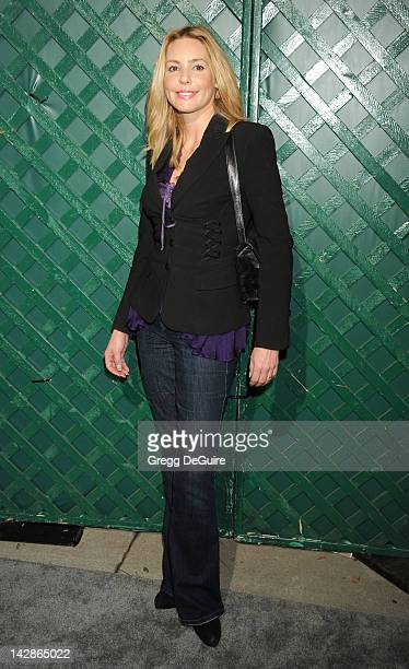 Actress Olivia d'Abo arrives at the world premiere of My Valentine video premiere on April 13 2012 in West Hollywood California