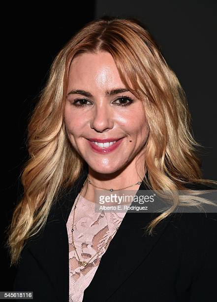 """Actress Olivia d'Abo attends a reunion for """"Two Days In The Valley"""" at NeueHouse Hollywood on July 8, 2016 in Los Angeles, California."""