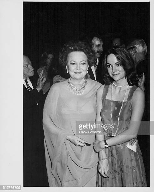 Actress Olivia de Havilland and her daughter Gisele attending the 40th anniversary celebration of the movie 'Gone with the Wind' at at Los Angeles...
