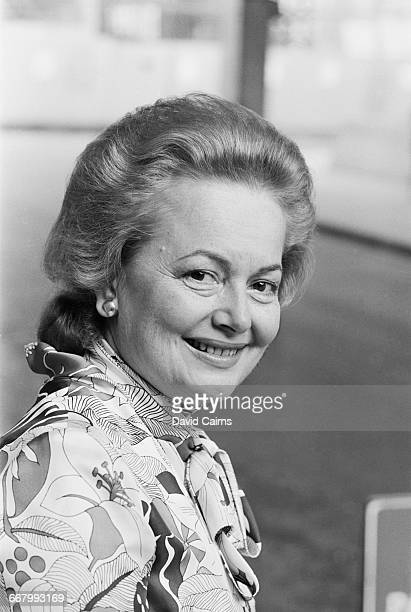 Actress Olivia de Havilland at the National Film Theatre in London UK 22nd August 1971