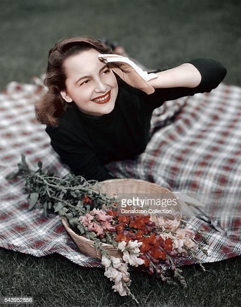 Actress Olivia de Havilland poses for a portrait circa 1940 in Los Angeles, California.