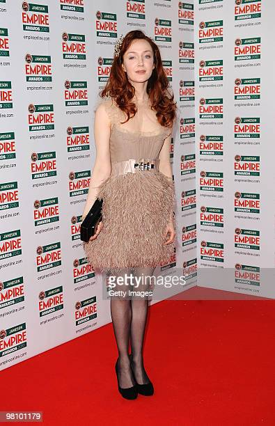 Actress Olivia Grant attends the Jameson Empire Film Awards held at Grosvenor House Hotel, on March 28, 2010 in London, England.