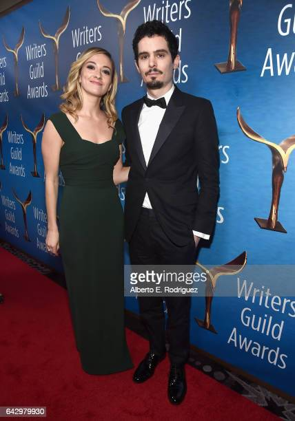 Actress Olivia Hamilton and director Damien Chazelle attend the 2017 Writers Guild Awards LA Ceremony at The Beverly Hilton Hotel on February 19 2017...