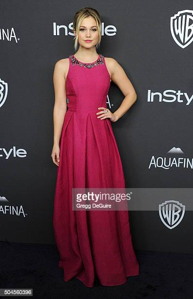 Actress Olivia Holt arrives at the 2016 InStyle And Warner Bros 73rd Annual Golden Globe Awards PostParty at The Beverly Hilton Hotel on January 10...