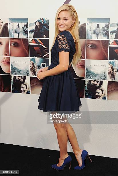 Actress Olivia Holt arrives at the Los Angeles Premiere 'If I Stay' at TCL Chinese Theatre on August 20 2014 in Hollywood California
