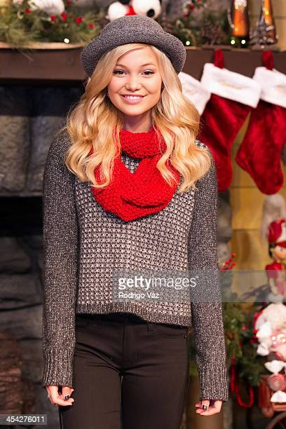 Actress Olivia Holt attends the Knott's Merry Farm Holiday Reading and Tree Lighting at Knott's Berry Farm on December 7 2013 in Buena Park California