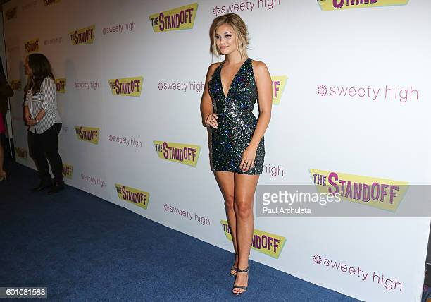 Actress Olivia Holt attends the premiere of 'The Standoff' at Regal LA Live A Barco Innovation Center on September 8 2016 in Los Angeles California