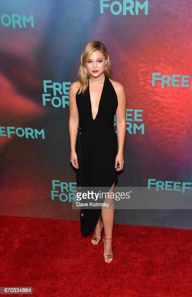 Actress Olivia Holt of 'Marvel's Cloak' attends Freeform 2017 Upfront at Hudson Mercantile on April 19 2017 in New York City