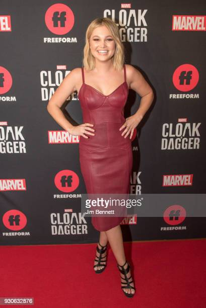 Actress Olivia Holt walks the red carpet during the SXSW Film premiere of Marvel's Cloak and Dagger on March 11 2018 in Austin Texas