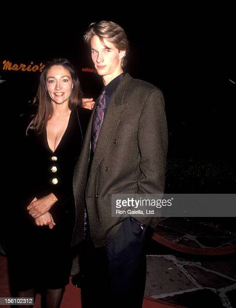 Actress Olivia Hussey and son Alexander Martin attend the 'Hamlet' Westwood Premiere on December 18 1990 at Mann Village Theatre in Westwood...