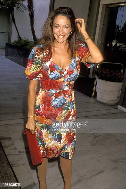 Actress Olivia Hussey attends the 'National Cable Forum Summer TCA Press Tour' on July 11 1990 at Century Plaza Hotel in Los Angeles California