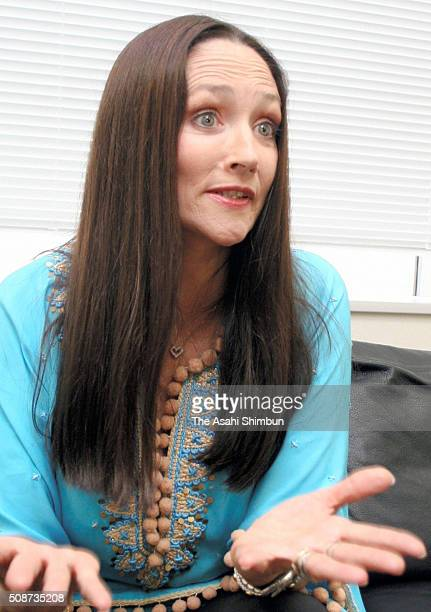 Actress Olivia Hussey speaks during the Asahi Shimbun interview on July 26, 2005 in Tokyo, Japan.