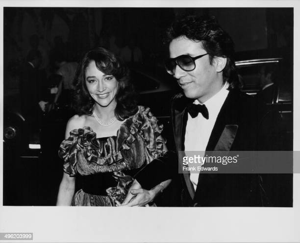 Actress Olivia Hussey with her husband attending a party at the Beverly Wiltshire Hotel California October 1983