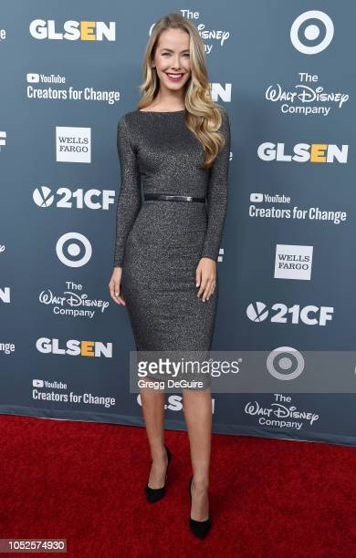 Actress Olivia Jordan arrives at the GLSEN Respect Awards at the Beverly Wilshire Four Seasons Hotel on October 19 2018 in Beverly Hills California