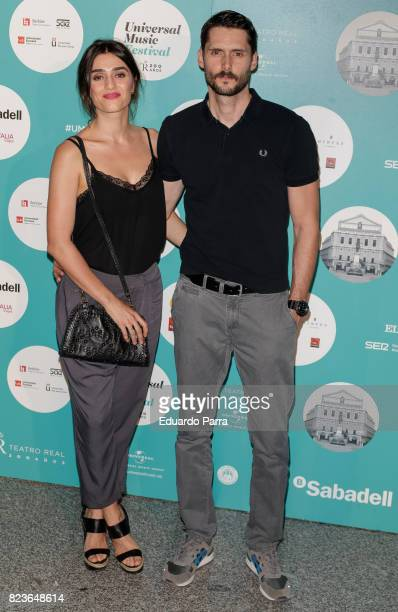 Actress Olivia Molina and actor Yon Gonzalez attend James Rhodes concert at the Royal Theatre on July 27 2017 in Madrid Spain