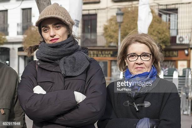 Actress Olivia Molina and actress María Pujalte attend a literary walk quotEl Madrid de Galdósquot January 28 2017