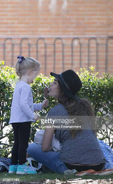 Actress Olivia Molina and her daughter Vera Mur are seen on March 30 2015 in Madrid Spain