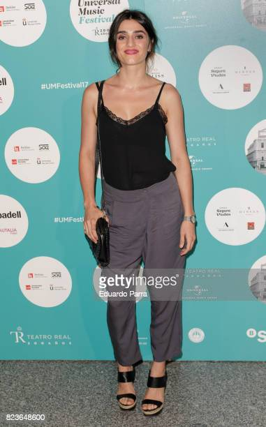 Actress Olivia Molina attends James Rhodes concert at the Royal Theatre on July 27 2017 in Madrid Spain
