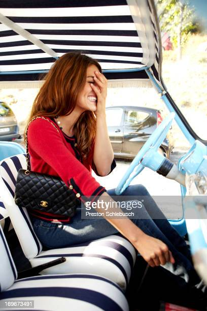 Actress Olivia Molina is photographed for Conde Nast Traveler Spain on September 17 2009 in Vence France