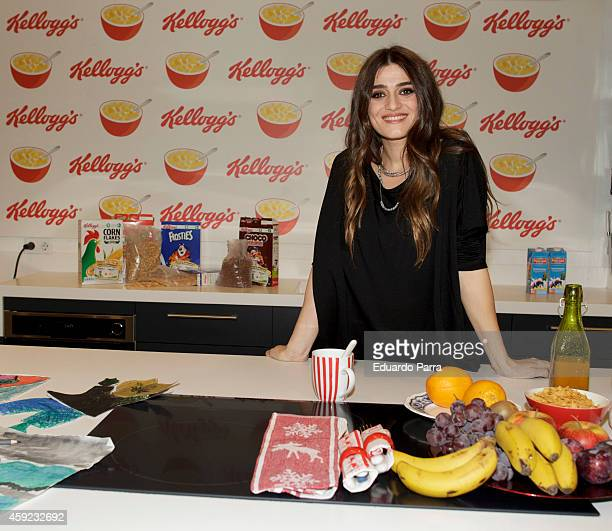 Actress Olivia Molina presents the 'Kellogg's charity campaign' at The Kitchen space on November 19 2014 in Madrid Spain
