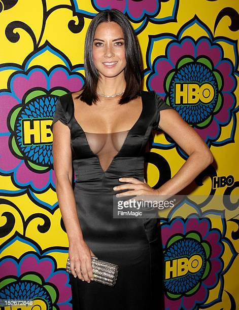 Actress Olivia Munn arrives at HBO's Official After Party at The Plaza at the Pacific Design Center on September 23 2012 in Los Angeles California